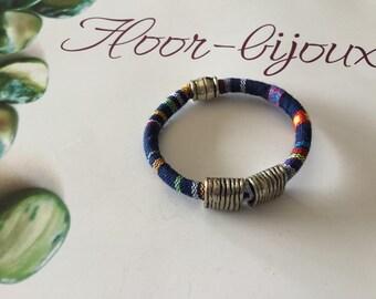 Trendy ethnic multicolor cotton woven cord sports bracelet