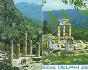 Vintage Unused Post Card Delphi, Greece. 1970s or 80s