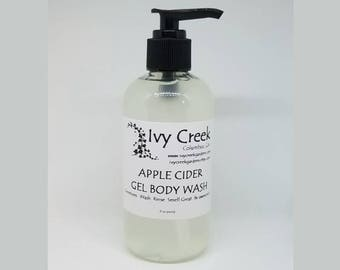 Apple Cider Body Wash, Fall Gel Body Wash, Natural Soap, Fall Soap, Apple Cider, Holistic, Natural Body Wash, Gifts for Her, Gifts for Mom