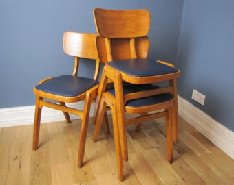 1950's Original Stacking Ben Chairs Butterfly Back Dining Bistro Chairs