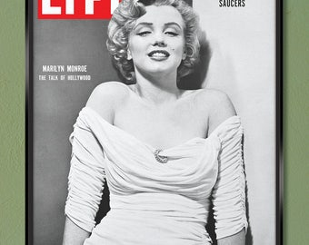 Marilyn Monroe LIFE Magazine Cover 1952 24x30 Canvas Wrap w/ Free UPS Shipping