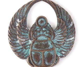 Winged Scarab Pendant (STEAM222)