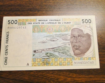 French West Africa States 500 Francs Note - Very Nice Note - Great Find!