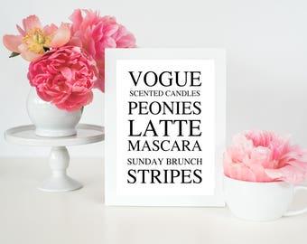 Vogue Print | Prints | Home Decor | Gift For Her | Office Decor | Art Print
