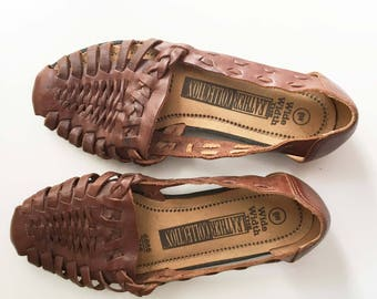 Huarache Leather Sandals 6 W