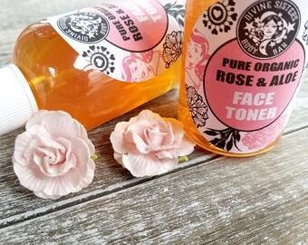 Rose Water Toner, Face Toner, Facial Serum, Natural Face Toner, Natural Skincare, Dry Skin Toner, Facial Toner, Gift for Her