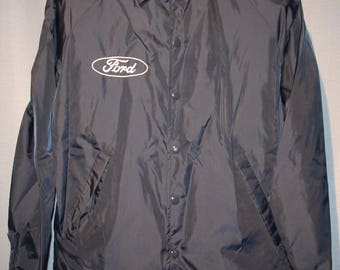Vintage Ford Motors Employee Sales Jacket Rare Size Small +