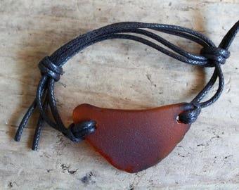 Adjustable Bracelet, Sea Glass Bracelet, Beach Bracelet, Surfer Bracelet, Unisex Bracelet, Sea Lover Gift, Simple Bracelet, Ocean Bracelet