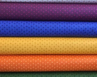Half Yard Bundle, 6 fabrics, Lizzy House Asterisk for Andover Fabrics, Stash Builder, Basic Fabric, Blender Fabric