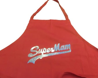 SuperMum Holographic Mothers Printed Apron
