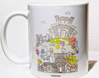 Printed Mug, Bambourgh