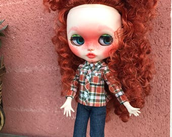 Doll type Blythe custom recessed. Customized OOAK DOLL