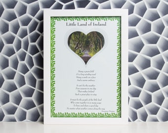 Little Land Of Ireland Green A4 Print - Hand Crafted