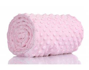 Half a metre coupon 50 minky fabric x 160 cm, light pink velvet fabric / plush
