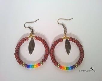 The 7 chakras colors earrings