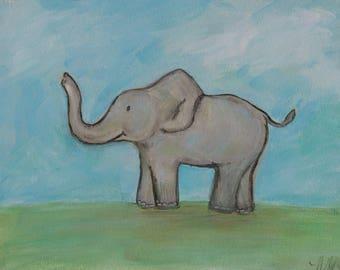 Painting for Children's Room -Elephant