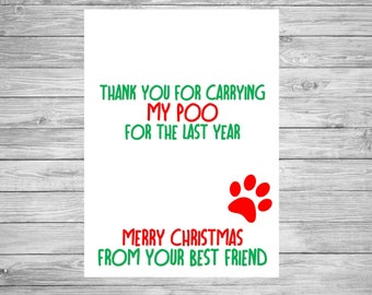 Christmas Card From the dog funny humour