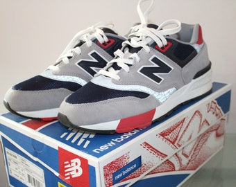 New Balance 597 Shoes Blue Grey Red