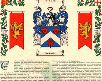 Family Coat Of Arms Etsy