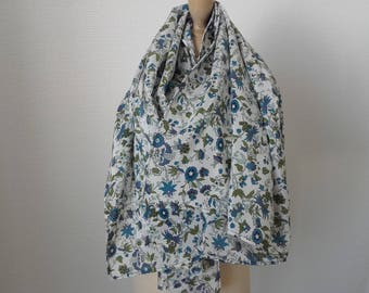 English garden theme silk scarf