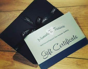 Gift Certificate, Gift Voucher, Gift Card, Jewellery Gift Voucher, Jewellery Gift Card, Keepsake Gift Voucher, Keepsake Gift Card