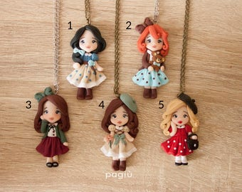 Necklace with doll. Made to order