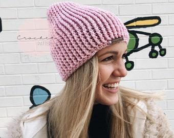 Crochet Beanie Pattern, Crochet Hat Pattern, Ali Hat Pattern, Chunky Crochet Toque Pattern