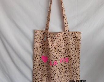 Custom floral bag tot