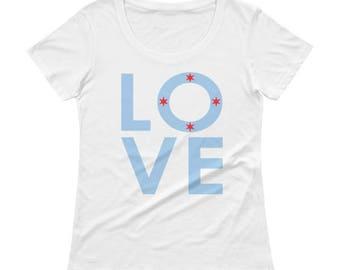 Chicago LOVE Ladies' Scoopneck T-Shirt