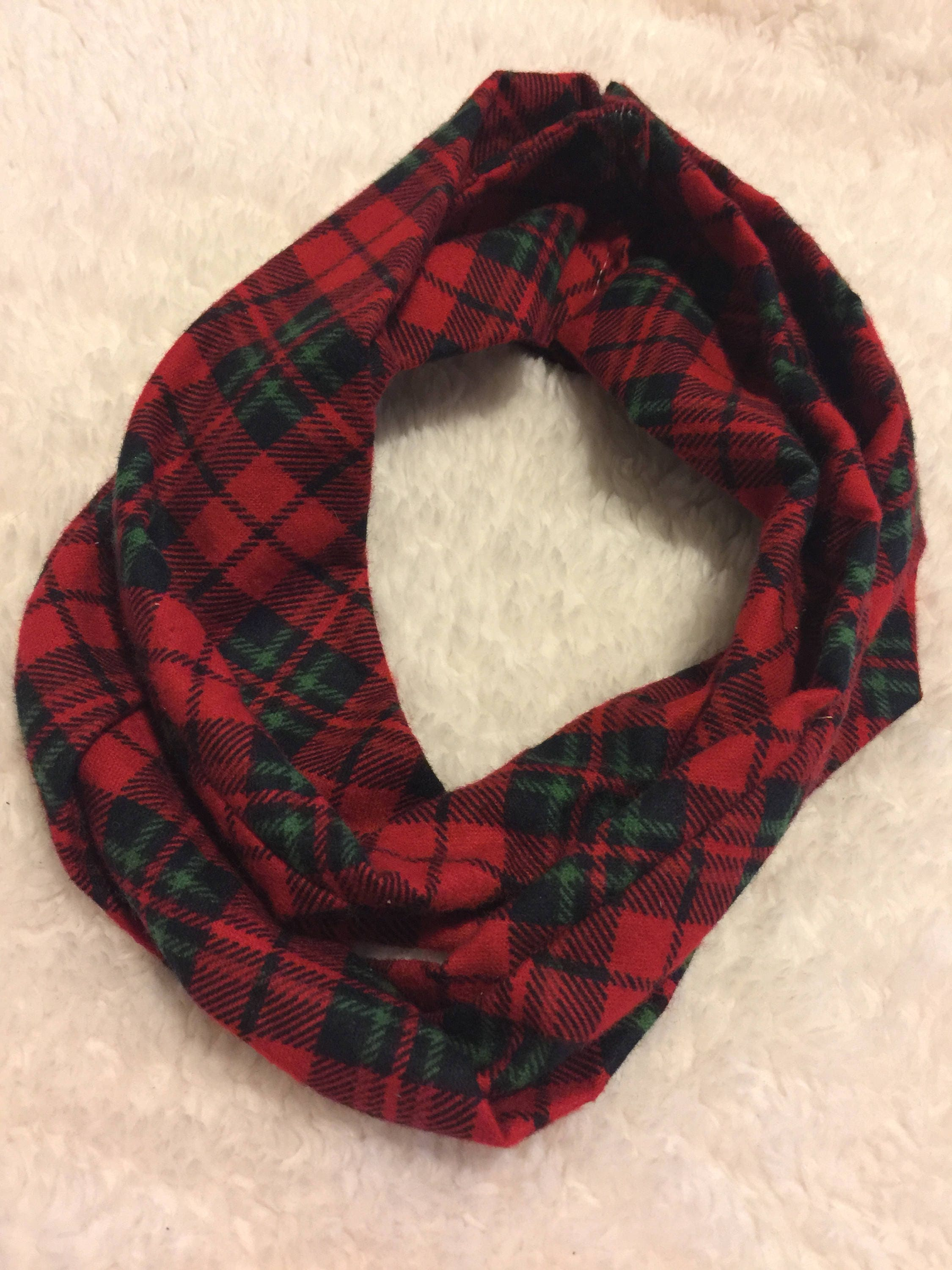 plaid baby toddler infinity scarf red plaid scarf christmas baby scarf snap - Christmas Plaid Scarf