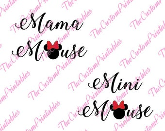 Mama, Mini, Mouse, Minnie, Head, Mother, SVG, Cricut Files, Silhouette Files, Cameo, Vector, T-shirt, Iron On