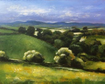 Landscape painting, original  painting