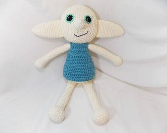 Magic Dobby Crochet Plush - Harry Potter a inspirat Dobby House Elf - Dobby amigurumi