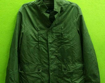 Zara Man Windbreaker Jacket Green Army