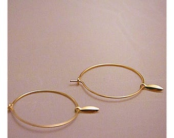 Creoles 14K goldplated