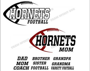 Hornets Football Mom, Dad Download Files - SVG, DXF, EPS, Silhouette Studio, Vinyl  Files, Digital Cut Files -Use with Cricut and Silhouette