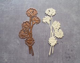 Die cut Stencil Creative large flower stem Dandelion dandelion Nature