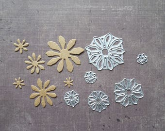 Die cut matrix Sizzix Nature 6 daisy flowers