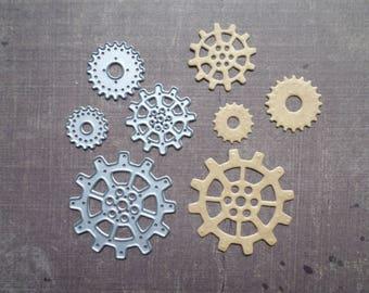 Die cut Stencil Sizzix round gears Geardhead 4 pcs