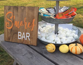 S'more Bar, S'more Sign, S'mores Bar Sign, Wedding S'more Bar Sign, Wedding S'more Sign, Wedding Sign, Wedding Sign, Wedding Decor, S'more