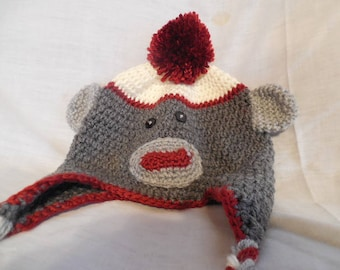 Knitted Adult Monkey Hat