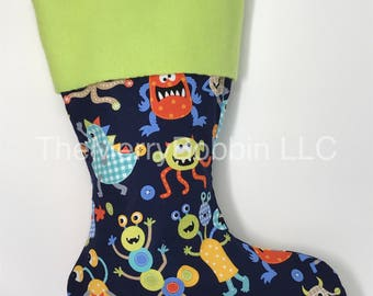Monsters Christmas Stocking, Kids Gifts, Boy Gifts, Girl Gifts, Kids Stocking, Christmas Stocking, Monsters Stocking, Baby Stockings