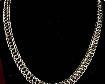 Persian 4 in 1 Steel Necklace, Chainmail Necklace, Elegant Steel Necklace