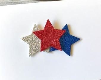 4th of July Hair Clip, Fourth of July Hair Clip, Patriotic Hair Clip, 4th of July Hair Bow, Hair Clip, Baby Hair Clip, Toddler Hair Clip