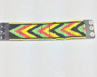 Handmade Massai Beaded Wrist Band