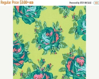 Sale Rose Lore in Lemon from the Eternal Sunshine Collection by Amy Butler - Cotton Quilting Fabric