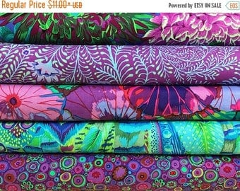 Sale Bundle of Kaffe Fassett Collective Fabrics 5 fabrics - Kaffe Fassett Collective Red Bundle