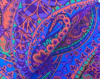 Sale Paisley Jungle in Purple by Kaffe Fassett - Kaffe Fassett Collective