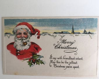 Vintage Holiday Post Card- 1920's