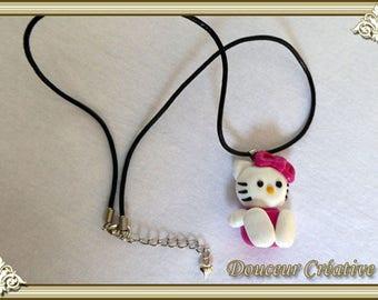 Necklace children kitten kitty 202006